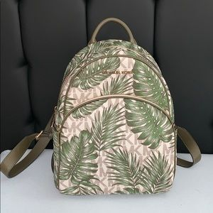 michael kors palm tree backpack